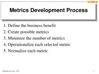 Metrics Development Process