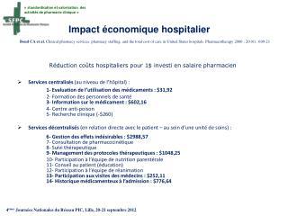 «standardisation et valorisation  des activités de pharmacie clinique»