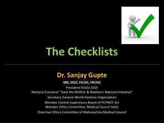 The Checklists