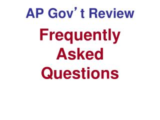 AP Gov ' t Review