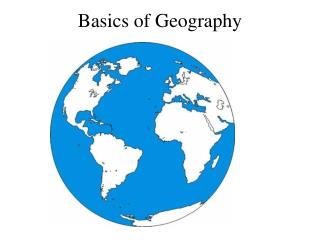 Basics of Geography
