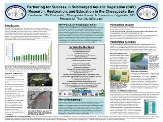 Partnership Members Chesapeake Research Consortium The Johns Hopkins University