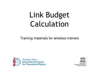 Link Budget Calculation