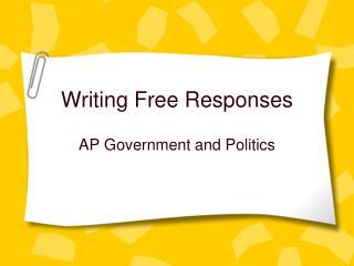 Writing Free Responses