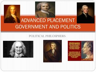 ADVANCED PLACEMENT GOVERNMENT AND POLITICS