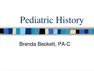 Pediatric History