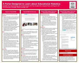 A  Portal Designed to Learn about Educational Robotics