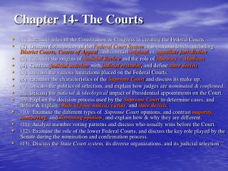 Chapter 14- The Courts