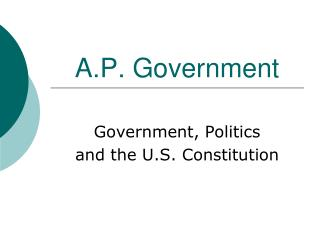 A.P. Government