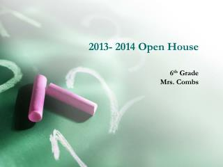 2013- 2014 Open House