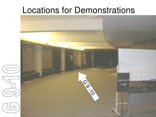 Locations for Demonstrations