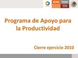 Programa de Apoyo para la Productividad