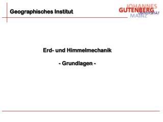 Geographisches Institut