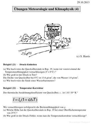 Meteorologie Übungen 8