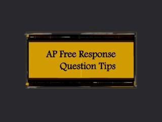 AP Free Response Question Tips