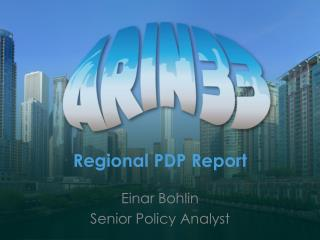 Regional PDP Report
