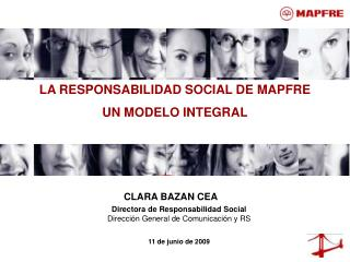 LA RESPONSABILIDAD SOCIAL DE MAPFRE UN MODELO INTEGRAL