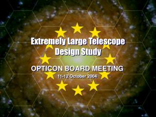 Extremely Large Telescope Design Study