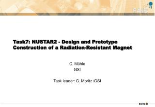Task7: NUSTAR2 - Design and Prototype Construction of a Radiation-Resistant Magnet