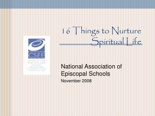 16 Things to Nurture