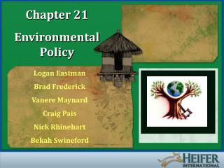 Chapter 21 Environmental Policy
