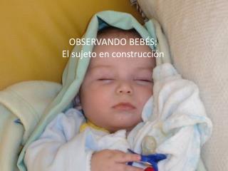 OBSERVANDO BEB�S: El sujeto en construcci�n