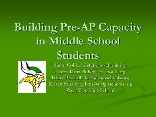 Building Pre-AP Capacity in Middle School Students