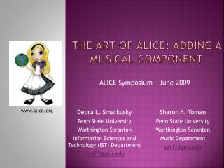 The Art of Alice: Adding a Musical Component