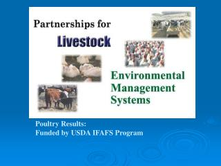 Poultry Results: Funded by USDA IFAFS Program