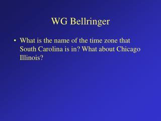 WG Bellringer