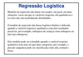 Regressão Logística