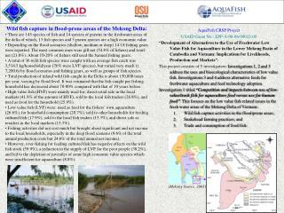 AquaFish CRSP Project USAID Grant No.: EPP-A-00-06-00012-00