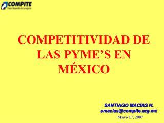 COMPETITIVIDAD DE LAS PYME'S EN MÉXICO