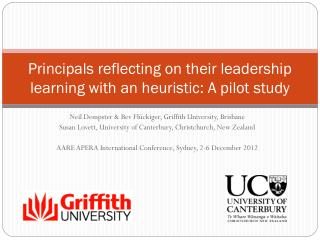 Principals reflecting on their leadership learning with an heuristic: A pilot study
