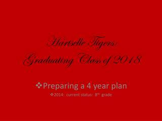 Hartselle Tigers: Graduating Class of 2018