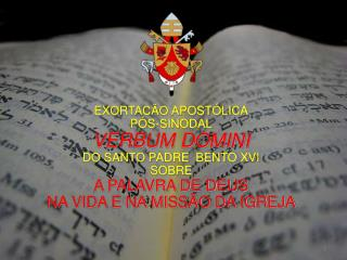 EXORTACÃO APOSTÓLICA PÓS-SINODAL VERBUM DOMINI DO SANTO PADRE  BENTO XVI SOBRE A PALAVRA DE DEUS
