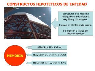 CONSTRUCTOS HIPOTETICOS DE ENTIDAD
