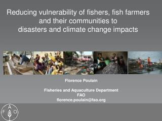 Florence Poulain Fisheries and Aquaculture Department FAO florence.poulain@fao