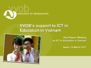 VVOB's support to ICT in Education in Vietnam