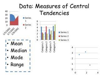 Data: Measures of Central Tendencies
