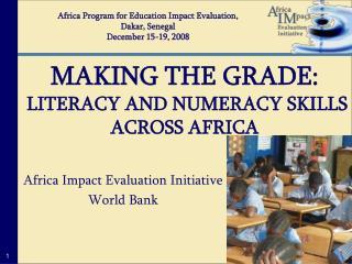 Africa Impact Evaluation Initiative World Bank