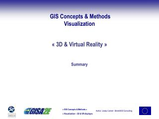 GIS Concepts & Methods Visualization