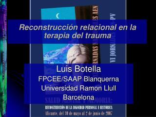 Reconstrucción relacional en la terapia del trauma