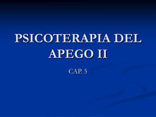 PSICOTERAPIA DEL APEGO II