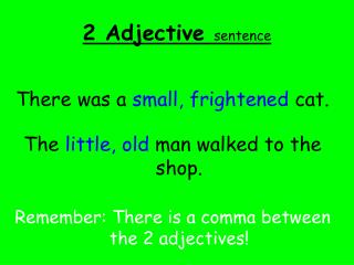2 Adjective  sentence