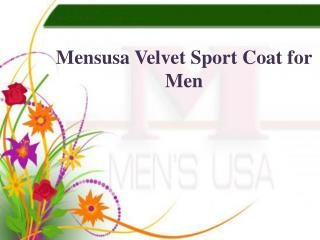 Mensusa Velvet Sport Coat for Men
