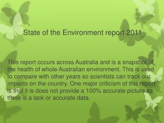 State of the Environment report 2011