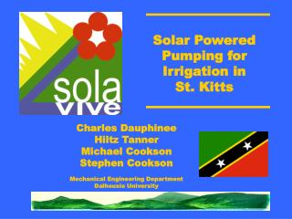 Solar Powered Pumping for Irrigation in  St. Kitts