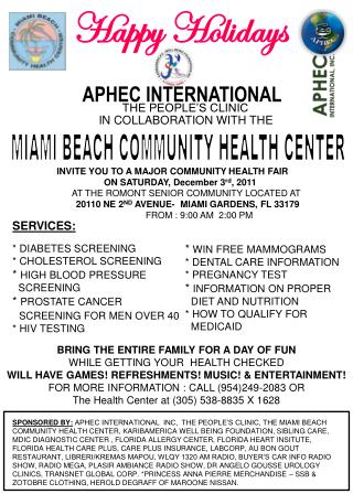 BRING THE ENTIRE FAMILY FOR A DAY OF FUN WHILE GETTING YOUR  HEALTH CHECKED
