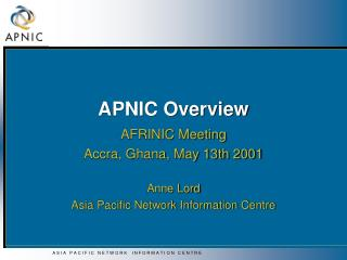 APNIC Overview